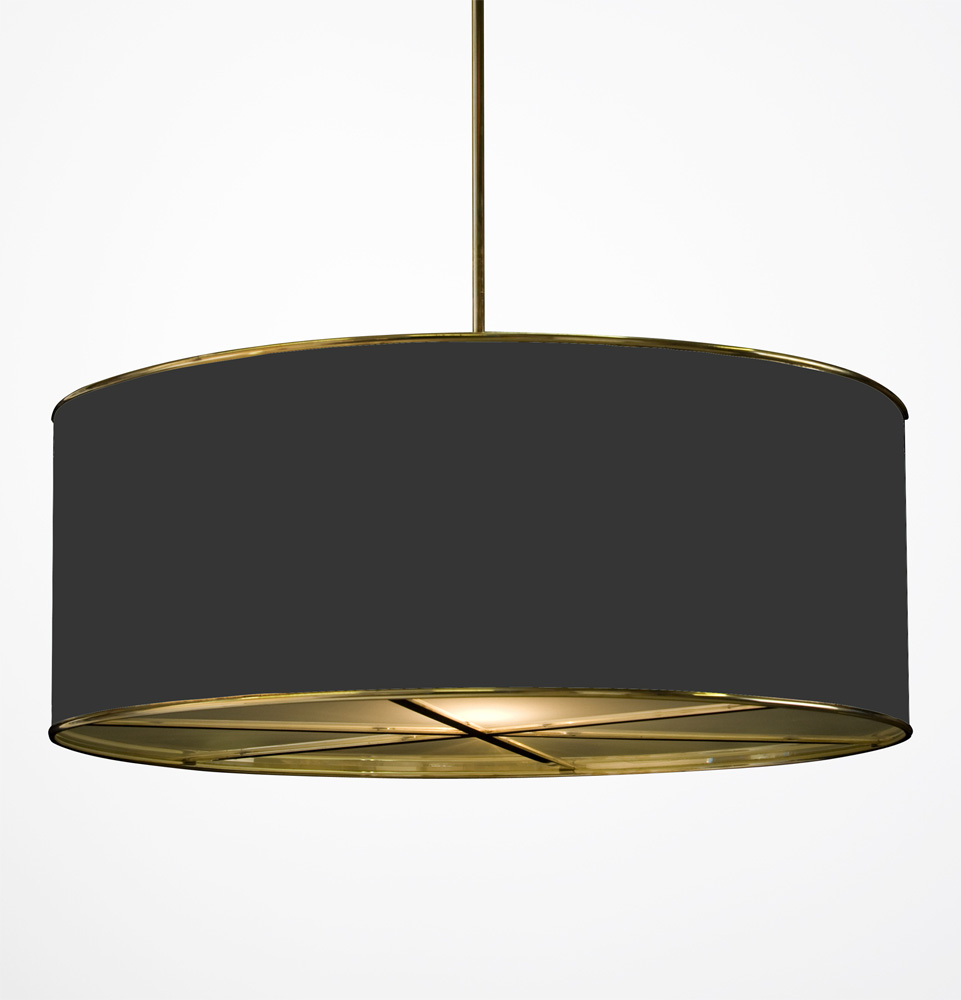 Drum Ceiling Lamp Shades. hanging drum shade light with frosted ...
