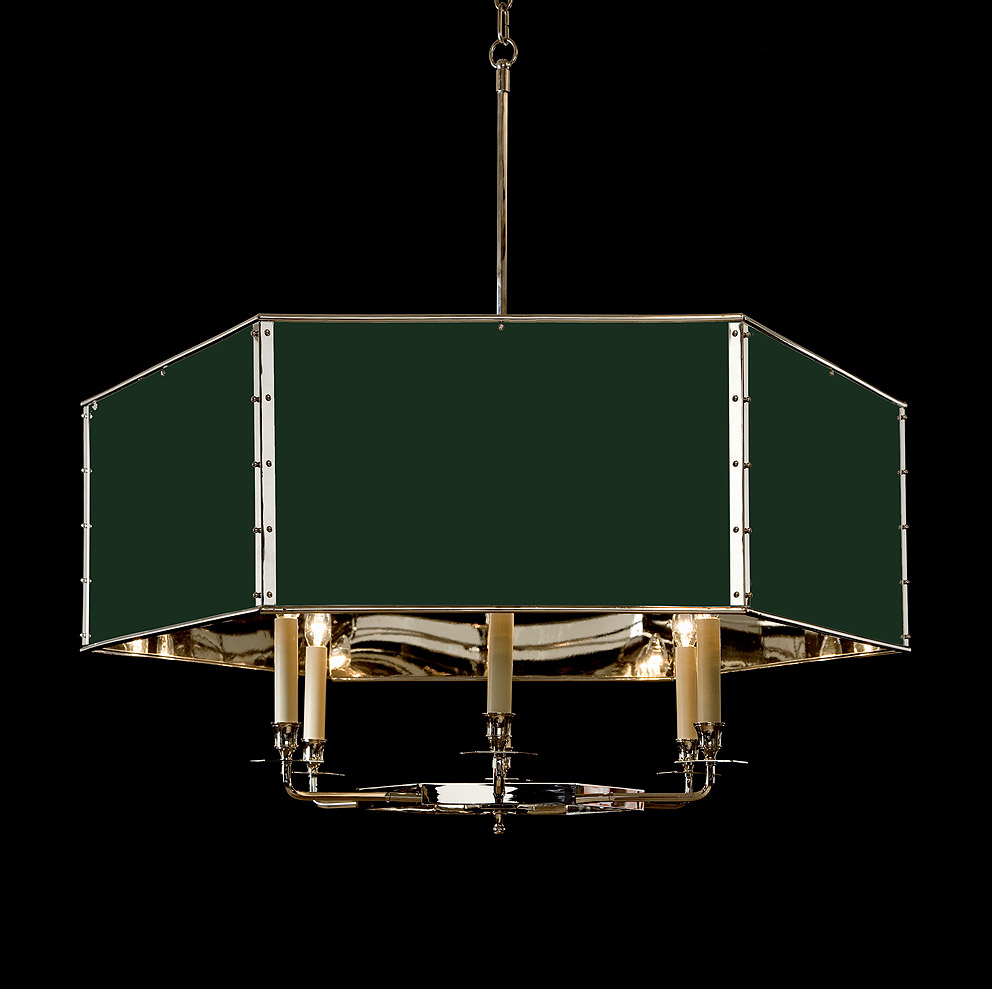 hanging hexagonal drum shade light hs 322