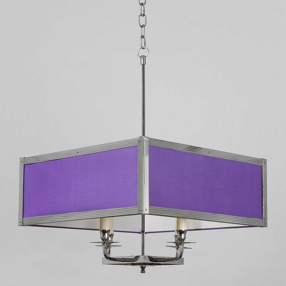 hanging square silk drum shade light hs 338
