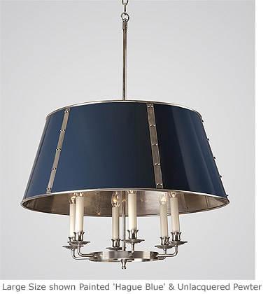 Hanging studded tole shade light hs 348